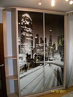 Шкаф-купе с фотопечатью «Огни большого города»
