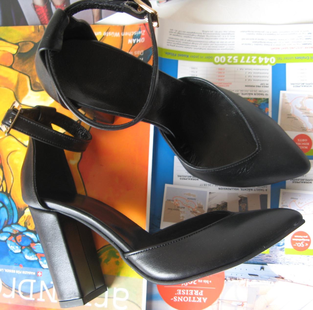6f64a507 Красивые женские кожа черного цвета босоножки туфли каблук 10 см весна лето  осень