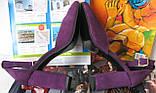 Mante! Красивые женские красивого фиолетового цвета замшевые босоножки туфли каблук 10 см весна лето осень, фото 5