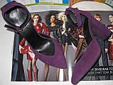 Mante! Красивые женские красивого фиолетового цвета замшевые босоножки туфли каблук 10 см весна лето осень, фото 2