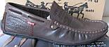 Стильные кожаные мужские мокасины в стиле Levis весна лето осень туфли горький шоколад, фото 3