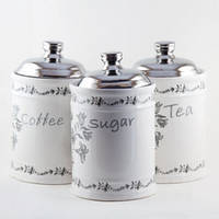 Набор из 3-х емкостей (сахар, кофе, чай) MR 20007-03cs Maestro