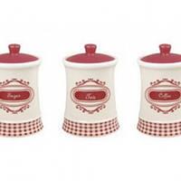 Набор из 3-х емкостей (сахар, кофе, чай) MR 20028-03cs Maestro