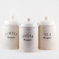 Набор из 3-х емкостей (сахар, кофе, чай) MR 20008-03cs Maestro