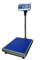 Весы торговые 150 кг, платформа 40х50 см, весы торговые электронные со стойкой