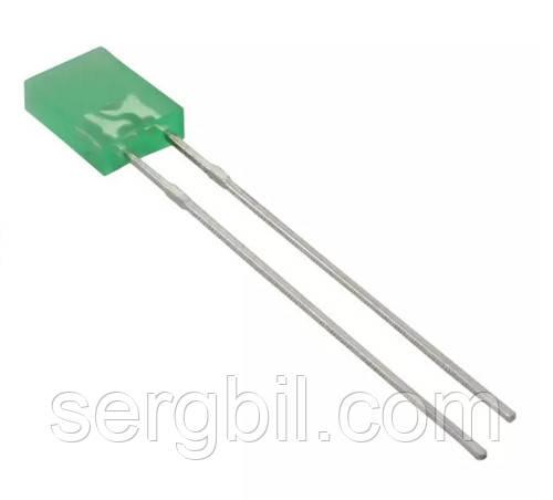 2х5х7мм светодиод зеленый корпус зеленый