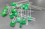 2х5х7мм светодиод зеленый корпус зеленый, фото 2
