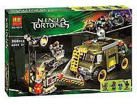 Конструктор  Bela аналог LEGO Черепашки-ниндзя 79115  ''Освобождение фургона черепашек' '368 дет.