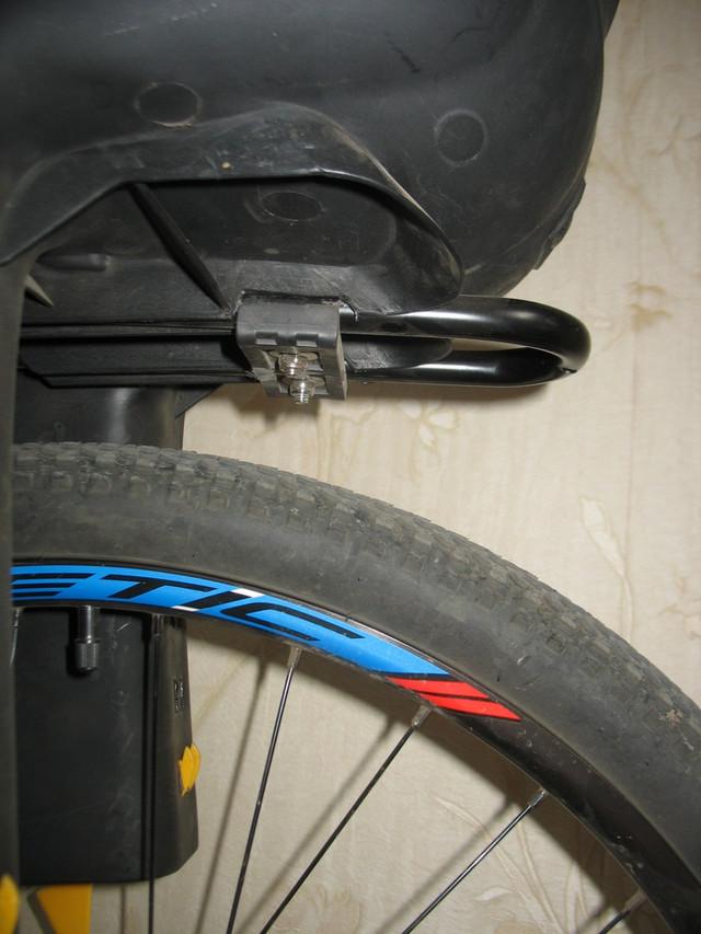 Расстояние велокресла от колеса