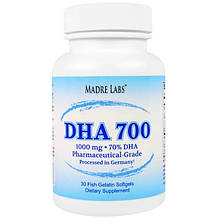 DHA 700 Fish Oil Madre Labs 30 softgels
