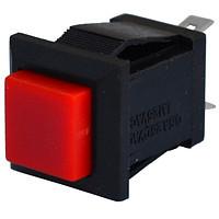 Кнопка квадратная PBS-15C без фиксации ON-(OFF), 2pin, 1А 250V, красная