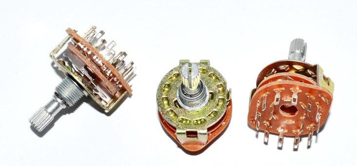 Переключатель галетный RBS-1, 2-12ways, 1-6poles, 0,3A 250VAC