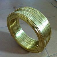 Латунная проволока Л63 п/т ф 0.2, 0.3, 0.4, 0.5, 0.6, 0.8, 1, 2, 3, 4 мм