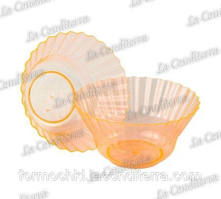 Оранжевая пластиковая креманка «Ondulina» 345 (250 мл)