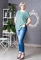 Батальная блуза в цветы