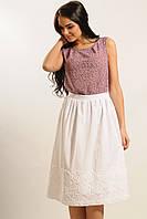 Легкая летняя женская юбка из хлопка-прошвы