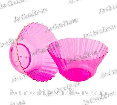 Розовая пластиковая креманка «Ondulina» 345 (250 мл)