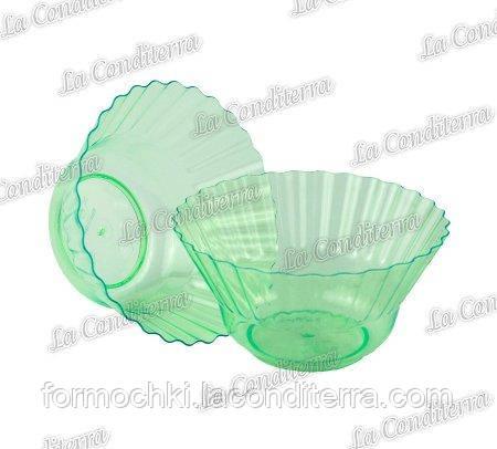 Зеленая пластиковая креманка «Ondulina» 345 (250 мл)