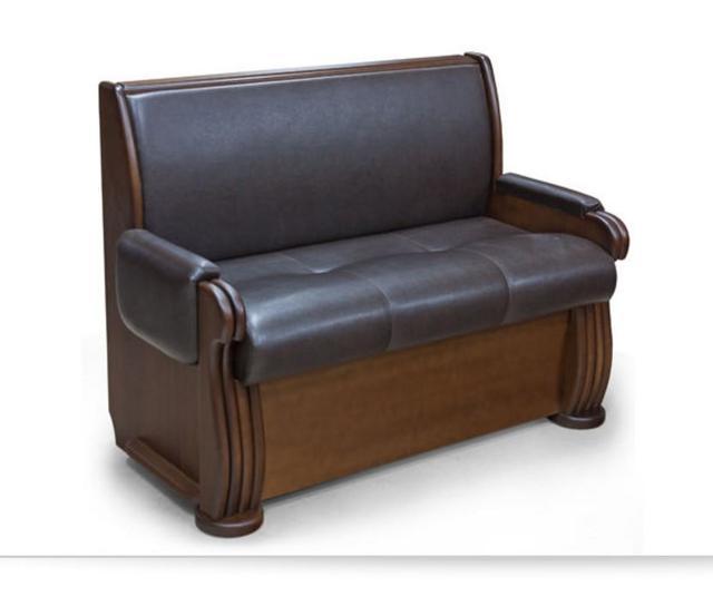 Кухонный диван Александра (ткань кожзаменитель, Массив)