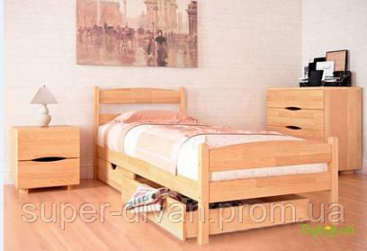Кровать Ликерия-Люкс(Бук) 0,8 с ящиками - 2 шт.