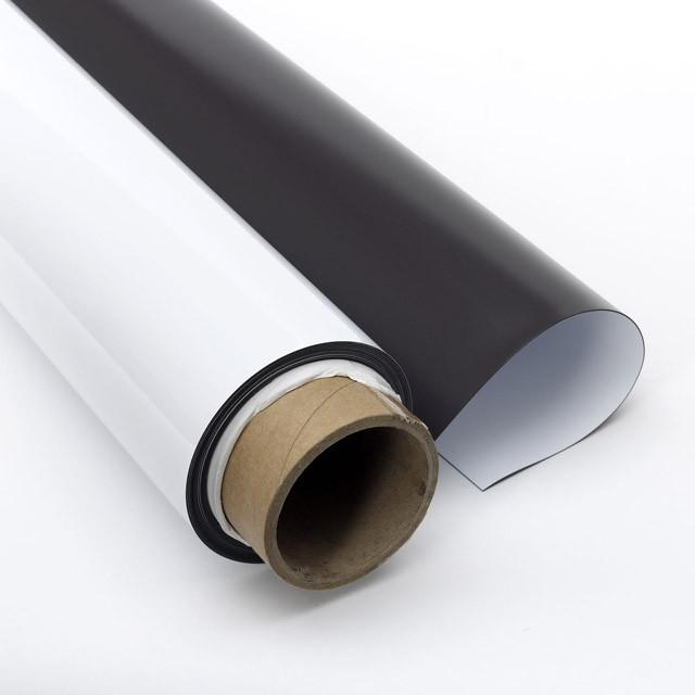 Магнитный винил 0,7мм с белым PVC покрытием (620мм х 10м)