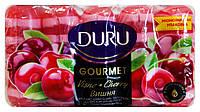 Увлажняющее глицериновое мыло Duru Gourmet Вишня 5 х 75 г - 375 г.