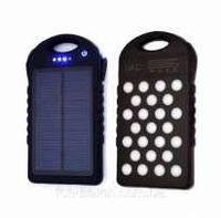 Power Bank UKC Solar Led 28000 mAh, внешний аккумулятор с солнечной панелью, фото 1