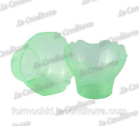 Зеленая пластиковая креманка «Prego» 011401 (250 мл)