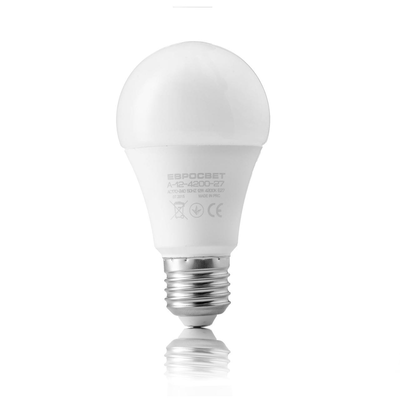 Лампа светодиодная 12вт Е27 4200К