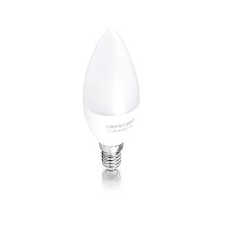 Лампа светодиодная свеча 6вт Е14 4200К, фото 2