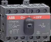 Реверсивный рубильник ABB OT40F3C 40A 3-полюсный без ручки управления (1SCA104913R1001)