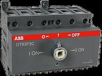 Реверсивный рубильник ABB OT63F3C 63A 3-полюсный без ручки управления (1SCA105338R1001)
