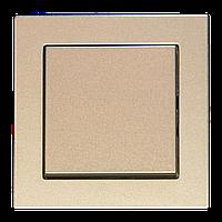 Выключатель 1 клавишный перекрестный, шампань-металлик, Epsilon