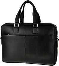 """Кожаная сумка для ноутбука 15"""" Tiding Bag M2164A черная"""