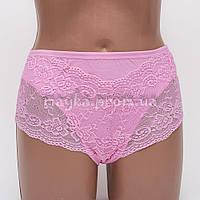 Трусики-шортики женские хлопок завышенная талия Miss Donna Lisa цвет розовый р.48-50 k3054-507