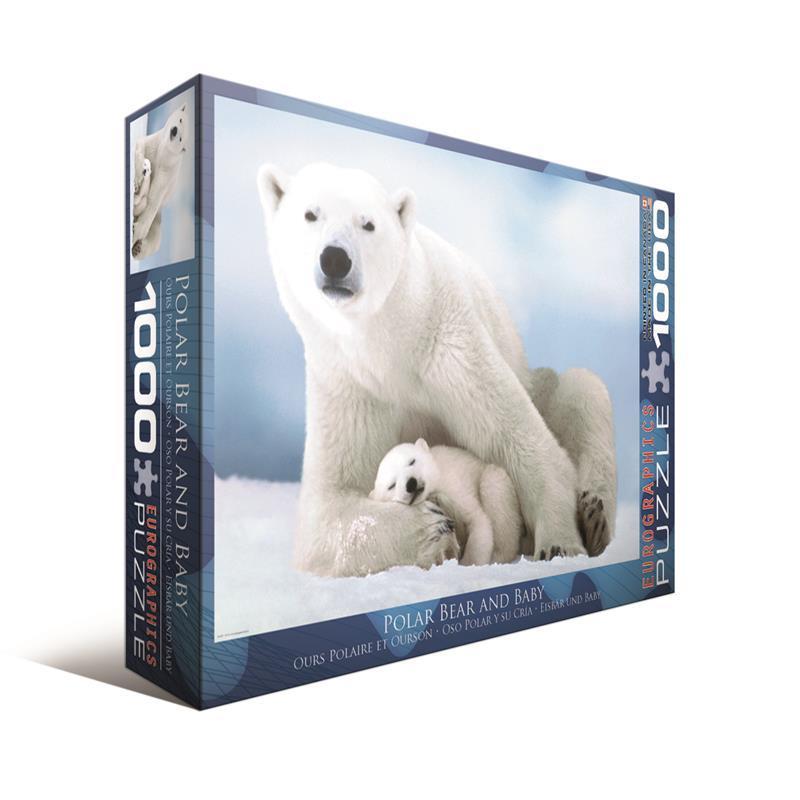 Пазл Белая медведица с медвежонком Eurographics (1000 шт.)