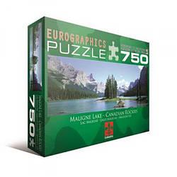 """Пазл Eurographics """"Канадські Скелясті гори, озеро Malain"""" (750 шт.)"""