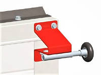 Кронштейн верхний для ролика ворот RBI125 Alutech нержавеющий