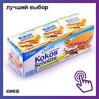 Вафли Excelsior Kokos Schnitte с кокосом и шоколадом