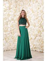 Вечернее платье с топом и длинной юбкой-колокол