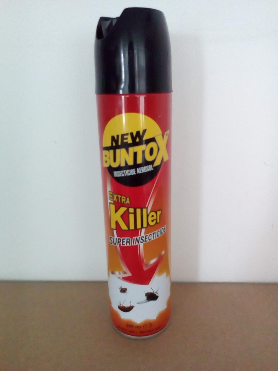 BUNTOX аэрозольное инсектицидное средство 300мл красный