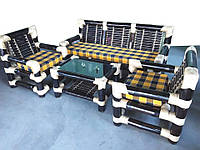 Набор BA_154 бамбуковый комплект 1 диван 3х местный, 2 кресла, стол журнальный. Садовая мебель. Сделано в Индии.