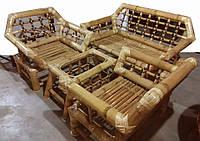 Набор BA_350 бамбуковый комплект 1 диван 3х местный, 2 кресла, стол журнальный. Садовая мебель. Сделано в Индии.