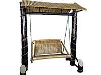 Качели BA_351 бамбуковые 2х местные. Садовая мебель. Сделано в Индии.