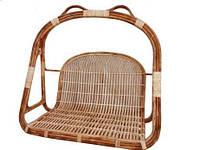 Кресло-качели CA_357. Садовая мебель, плетённая из лозы. Садовая мебель. Сделано в Индии.