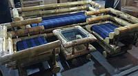 Набор BA_29 бамбуковый комплект 1 диван 3х местный, 2 кресла, стол журнальный. Садовая мебель. Сделано в Индии.