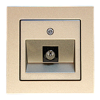 Розетка TV, шампань-металлик, Epsilon