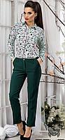 Женские укороченные брюки. Зеленые.
