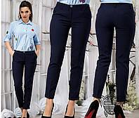Женские укороченные брюки. Синие.