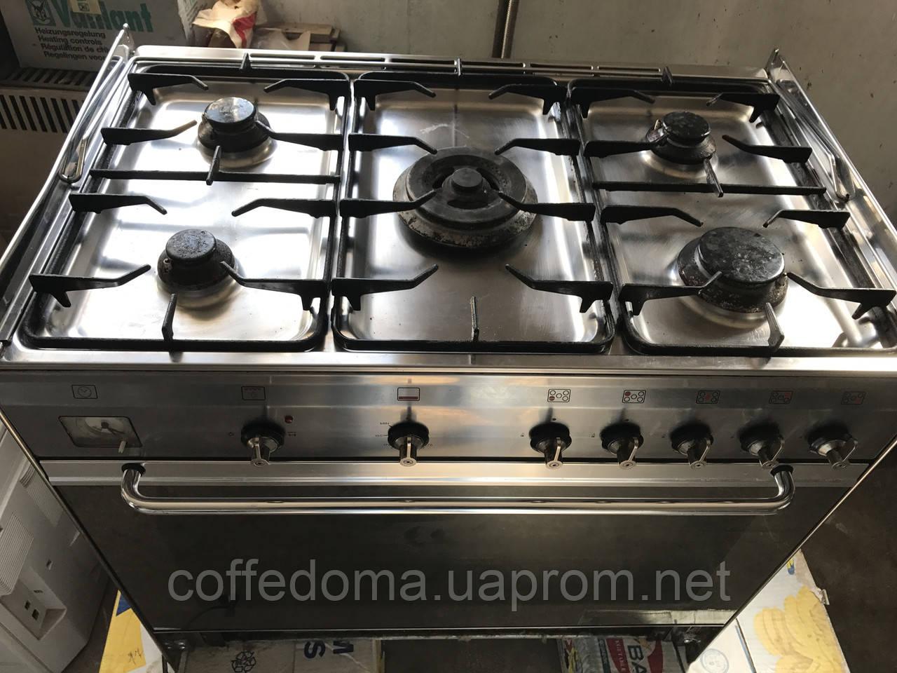 Smeg газовая плита на 5 конфорок с газовой духовкой